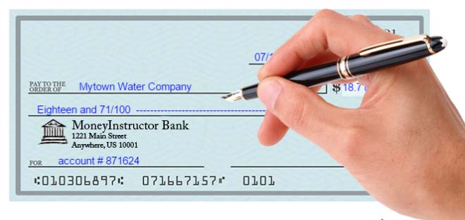 How to properly write a check basic step by step instructions optional field to describe the reason for the check or an account number ccuart Gallery